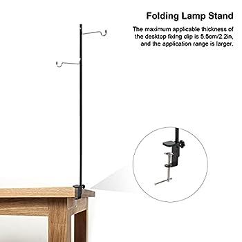 BRDI Poteaux Suspendus légers de Camping, hauteurs réglables Crochets Doubles symétriques Pratiques Support de Lanterne de Camping Pliable pour pêche pour Les activités de Plein air