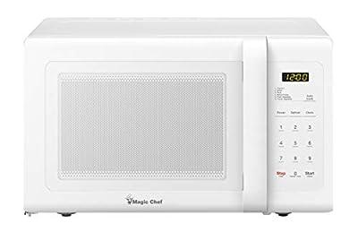 Magic Chef 0.9 Cu. Ft. 900W White Countertop Microwave Oven