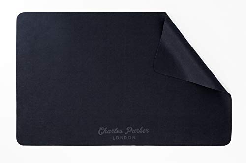 """Charles Parker London 1 x Black Microfibre Cleaning Cloth Compatible With Apple MacBook Pro 15"""" and MacBook Pro 16"""" and Similar Size Laptops"""