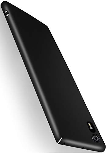 MoEx® Coque de Protection Ultra Fine Compatible Sony Xperia XZ | Rigide, Noir Mat métallisé