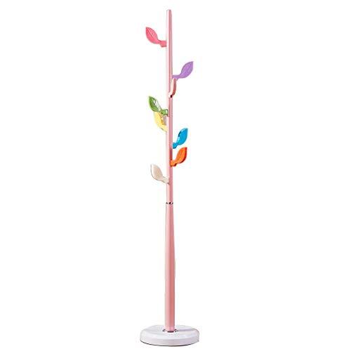 LZL Perchero Escudo Hat Rack, Equipamiento del hogar Escudo Rack, 67' H, Independiente con 9 Ganchos, Estante for la Ropa, Sombreros, monederos Estante de Almacenamiento (Color : Pink)
