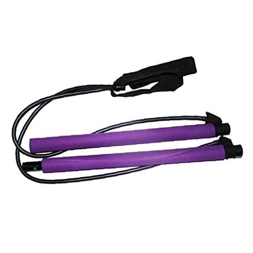 NiceJoy Productos para el Cuidado de la Belleza Yoga Pilates Pilates palillo de Resistencia Bar Bar Gimnasio Multifuncional para el Pecho de expansión Fuerza del Brazo púrpura