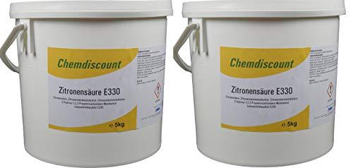10kg (2x5kg) Zitronensäure in Lebensmittelqualität E330, versandkostenfrei!