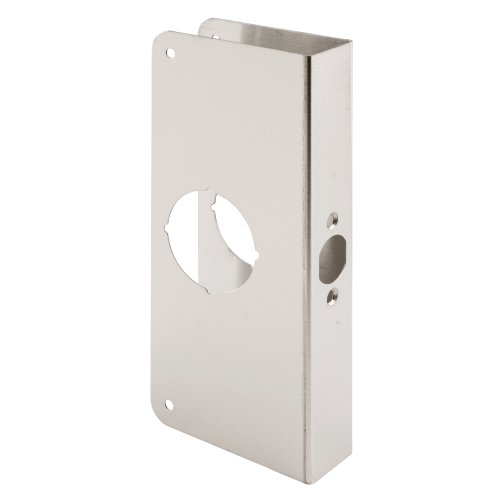 Defender Security Door Reinforcer Non-Recessed 1-3/8-Inch Thick by 2-3/8-Inch Backset 2-1/8-Inch Bore, Stainless Steel