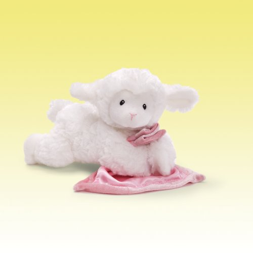 GUND Lena Lamb with Pink Blanket Stuffed Animal Sound Plush, 6'