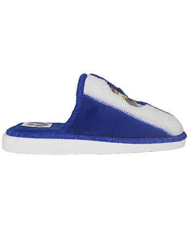 Zapatillas de Estar por casa con Licencia Oficial de Equipos de Futbol Real Madrid CF - Color - Azul, Talla - 43