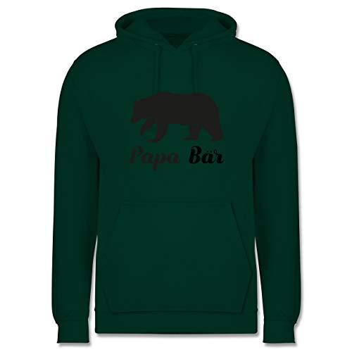 Shirtracer Vatertagsgeschenk - Papa Bär - XL - Dunkelgrün - Partner-Look - JH001 - Herren Hoodie und Kapuzenpullover für Männer