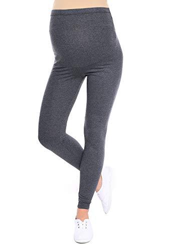 Oasi - leggings toute longueur de maternité de bonne qualité 95% Coton 3085 (EU 42, Graphite)