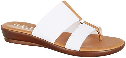 ITALIAN SHOEMAKERS Womens Lead Dress Sandals 8 White