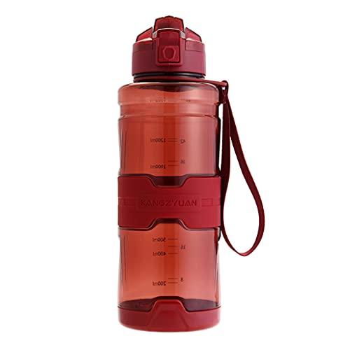 ShiftX4 Botella de agua Tritan a prueba de fugas de 1500 ml, botella de agua para gimnasio, entrenamiento, fitness