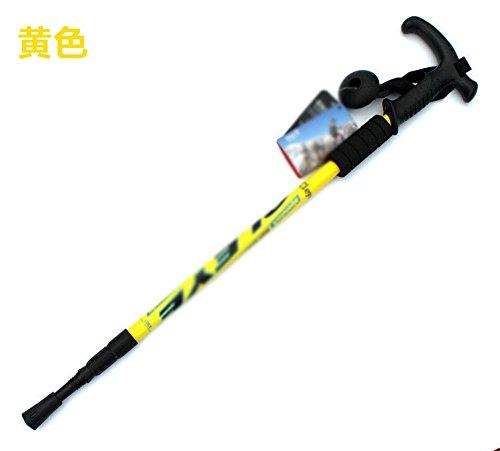 MONEYY Trekking léger Pliage télescopique Revenu Canne Canne Canne de randonnée équipement extérieur 135cm,