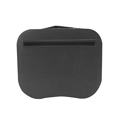 Hongwen Portable Lap Desk, Mini Phone Holder with Handle Multipurpose Knee Travel Reading Writing Nap Home Office for PC Tablet Pillow Stand Outdoor(Black)