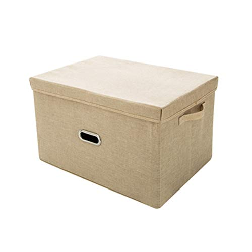 HFQJTU Non-Woven Foldable Storage Box with lid and handle Home Office BedroomWardrobe Box Organiser Archive Box with Lid Box Multi-Use General Storage Archive Box Stylish Set Storage Organizer
