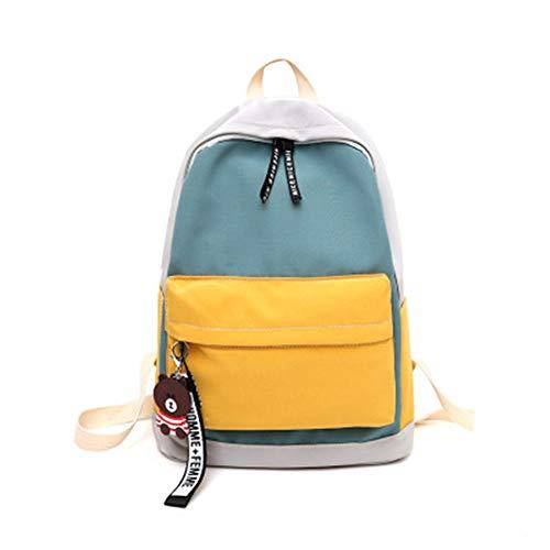 Bolsa de estudiante de la escuela media nueva personalizada Amazon venta caliente estudiante mochila coreana pequeña fresca estilo universitario mochila