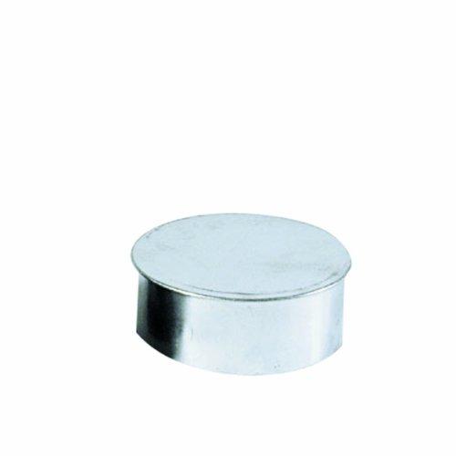 Kamino Flam Rohrkapsel aus verzinktem Stahl, feueraluminiert (FAL), Kaminverschluss mit Isolierung, Verschluss für alle gängigen Ofenrohre, Ofenlochdeckel für Rohre Ø 130 mm, Tiefe: ca. 48 mm
