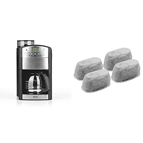 BEEM Kaffeeautomat Fresh-Aroma-Perfect Kaffeemaschine mit Mahlwerk, Permanent-Goldfilter & 4-teiliges Aktivkohlefilterset, passend für Fresh-Aroma-Perfect V2, Fresh-Aroma-Perfect Deluxe