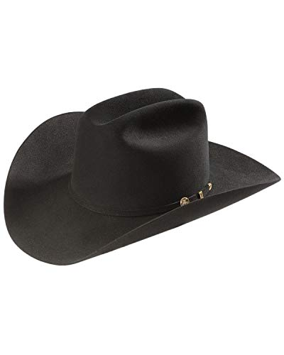 Stetson Men's 100X El Presidente Fur Felt Western Hat Black 7 1/8