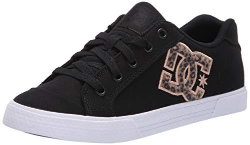 DC Women's Chelsea TX SE Skate Shoe, Leopard Print, 5 M US
