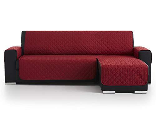 Lanovenanube - Funda Chaise Longue Acolchado - Práctica - Izquierda 240 cm - Color Rojo C05