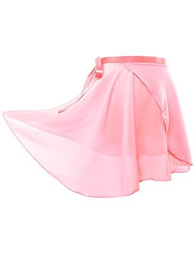 Daydance 子供 バレエスカート 薄くて軽い ドレス ダンス用品 子ども練習着 ライトピンク L身長 135-160cm 胴囲 95cm