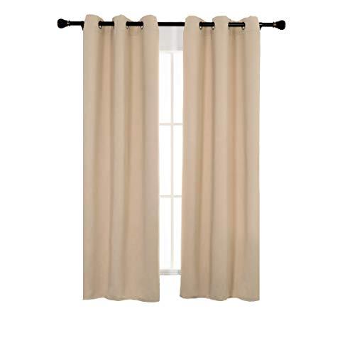 Spring Garden Home Short Window Coverings for Living Room - Blackout...