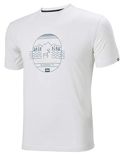Helly Hansen T-Shirt Skog Graphic pour Homme L Blanc