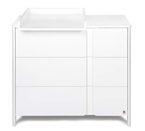 YappyKids YappyClassic - Cassettiera con fasciatoio, colore: Bianco