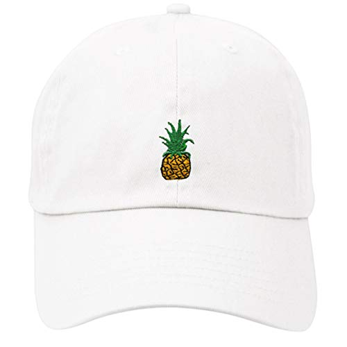 LBJY Pineapple Dad Hat Baseball Cap Polo Style Unconstructed