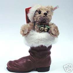 Steiff Lim.Nr.02074 Teddybär blond im Stiefel 31cm Mohair Teddy Bear in a boot STEIFF 670862