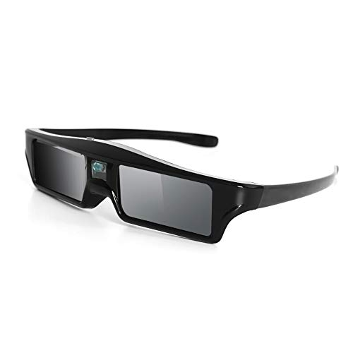 RUIHUA DLP Link 3D Glasses USB Rechargeable Projector Dedicated Active Shutter 96-144HZ 3D Glasses for Extreme Rice Nut Benq Acer Optoma,1PCS