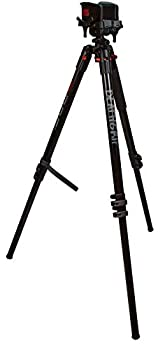 Bog DeathGrip Aluminum Tripod with Durable Lightweight Stable Design Bubble Level and Hands-Free Operation for Hunting Shooting and Outdoors Black Maximum Height  72