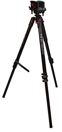 BOG DeathGrip Aluminum Tripod with Durable, Lightweight, Stable Design, Bubble Level and Hands-Free Operation for Hunting, Shooting and Outdoors, Black, Maximum Height: 72