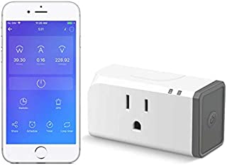 Sonoff S31 Wi-Fi Smart Plug with Energy Monitoring UL Listed, Smart Socket Outlet Timer Switch, Compatible with Alexa & Google Home Assistant, IFTTT Supporting, No Hub Required