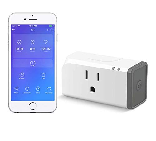 Smart Plug with Energy Monitoring ETL Certified,Sonoff S31 WiFi Smart Outlet Timer Switch, Works with Alexa & Google Home Assistant, IFTTT Supporting, No Hub Required