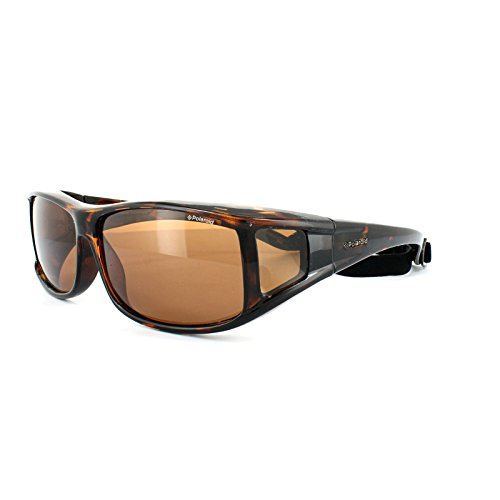 Polaroid P8901L OBM schildpad P8901L Wrap zonnebril gepolariseerde golf, fietsen, hardlopen, vissen, rijden lens categorie 3 grootte 62mm