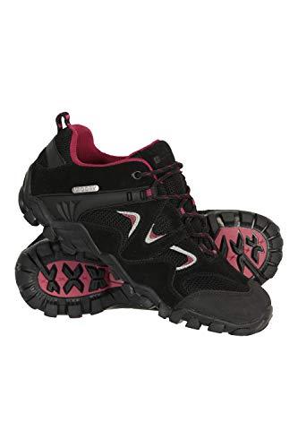 Mountain Warehouse Chaussures Curlews pour Femmes - Imperméables, séchage Rapide, décontractées, Semelle intermédiaire EVA, Semelle 100% Caoutchouc - pour la randonnée Noir 39