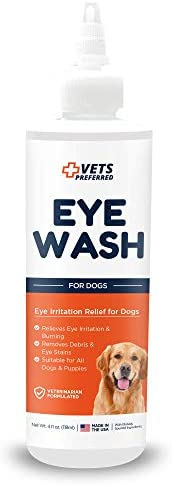 Vets Preferred Dog Eye Wash Dog Eye Cleaner Tear Stain Remover for Dogs Improves Allergy Symptoms product image