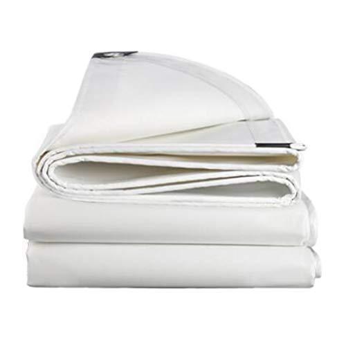 Bâche De Protection, Toile Imperméable Extérieure Robuste Double Face Bâche - Blanc (taille : 3.8m*3.8m)