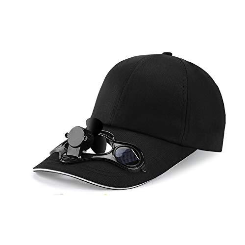 Verdelife - Cappello da baseball raffreddato a ventola ad aria solare, pannello solare con fibbia regolabile sul retro, per campeggio ecologico e viaggi