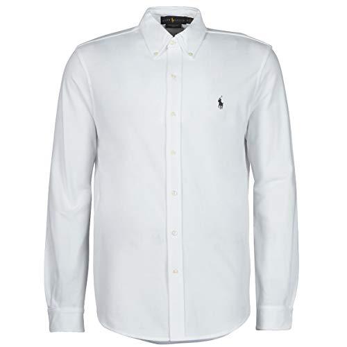 Ralph Lauren Short Sleeve-Knit Camiseta, Blanco (White Xw9h2), Large (Talla del Fabricante: 40) para...