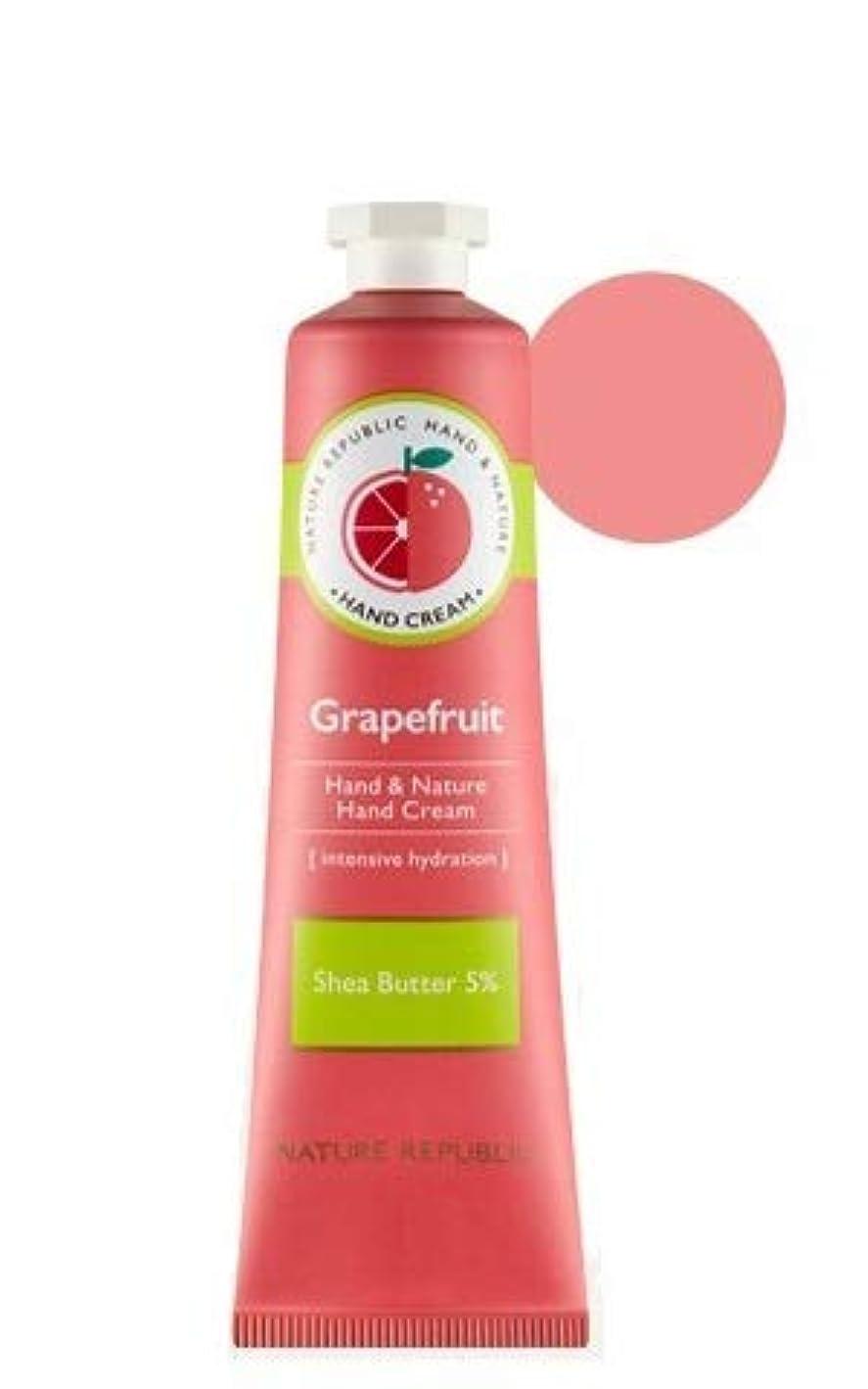 悪意のある関係する非常に怒っています[1+1]ネイチャーリパブリック NATURE REPUBLIC ハンドアンドネイチャーハンドクリーム Hand & Nature Hand Cream (# GRAPEFRUIT) [並行輸入品]