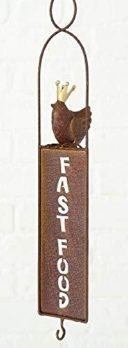 Home Collection Hogar Jardín Terraza Muebles Accesorios Decorativos Comedero para Aves Salvajes Motivo Fast Food