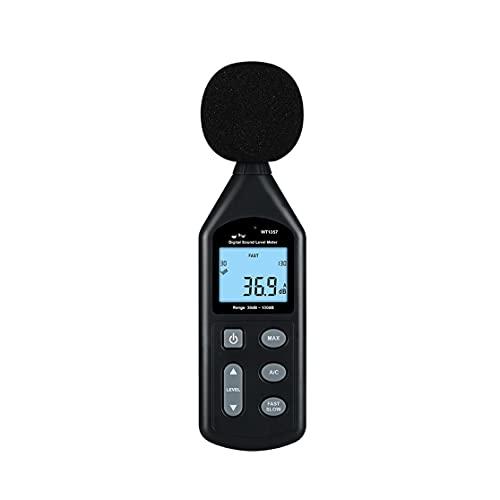 ZZHJYD BGWWG Medidor de Sonido de Nivel Digital Sonido DB Digital Medidor de Ruido de decibelios Pantalla de Tiempo Configuración de Apagado automático con función de Registro de Datos