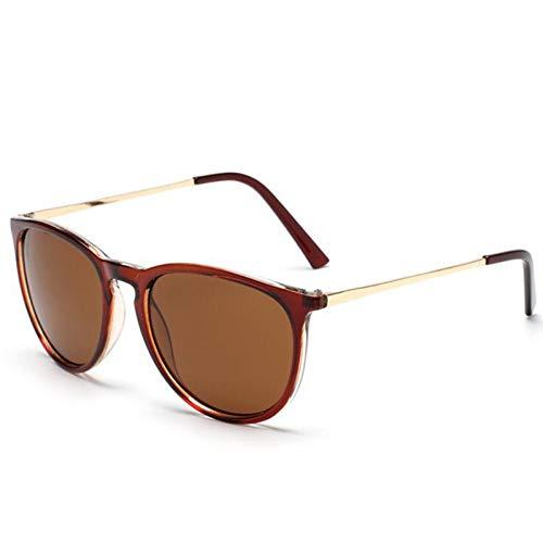 YIERJIU Gafas de Sol Nuevas Gafas de Sol clásicas Erika para Mujer Gafas de Sol con diseño de Espejo de Ojo de Gato Gafas de Sol con protección contra Rayos Estilo Estrella Uv400,Tea