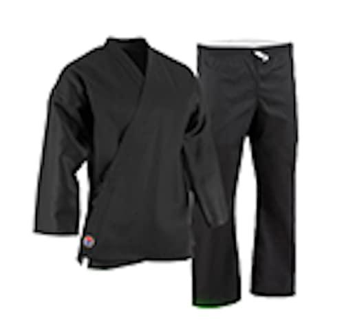 Proforce 5oz Ultra Light Weight Karate Gi/Uniform - Black - Size 0