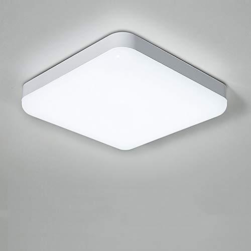 Yafido Plafoniera a LED Impermeabile IP56 30W 2400LM Bianco Freddo 6500K Quadrata Lampada da Soffitto per Cucina, Camera da Letto, Corridoio, Bagno, Balcone, Esterno Ø25CM