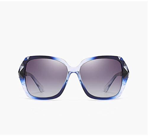 HPPSLT Redondo Gafas de Sol Polarizadas para Hombres y MujeresMetálico Montura, Gafas de Sol polarizadas de Alta Gama Europeas y Americanas-4 4