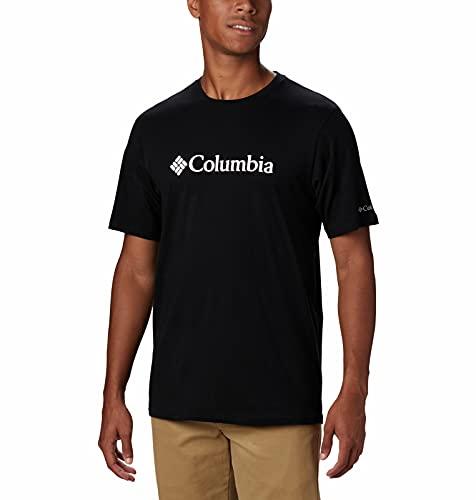 Columbia CSC Basic Logo, T-shirt à Manches Courtes, Homme,, 100% Coton Jersey, Noir (Black), Taille US : S, 1680051010S