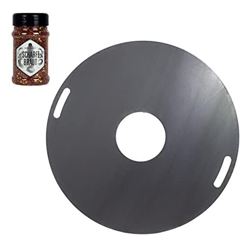 A. Weyck Tools Feuerplatte 80cm 5mm für Feuertonnen Grillplatte Plancha Grillring BBQ - Angebot mit Ankerkraut scharfe Braut #02