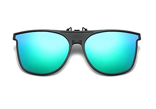 DAUCO Sonnenbrille Aufsatz Clip Polarisiert Clip auf Sonnenbrille Flip up Gespiegelt Brille Damen Herren
